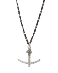 Icon Brand Necklace With Anchor Pendant Silver Silver