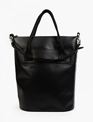 Black Void Waterproof Tote Bag