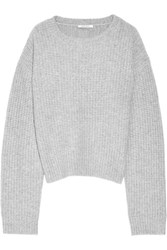 Protagonist Chunky Knit Cashmere Sweater Gray