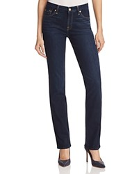 7 For All Mankind Kimmie Straight Jeans In Dark Dusk Indigo