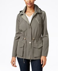 Charter Club Petite Hooded Anorak Jacket Only At Macy's Green Tea