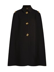 Burberry Point Collar Cashmere Cape Black