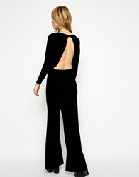 Asos Reclaimed Vintage Backless Jumpsuit In Velvet Black