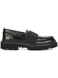 Msgm Strap Detail Loafers Black