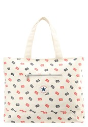 Converse Tote Bag Natural Navy Red Off White