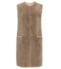 Bottega Veneta Shearling Vest Grey
