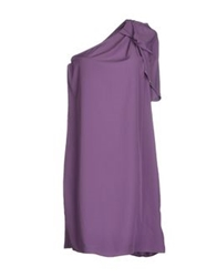 Liu Jeans Short Dresses Purple