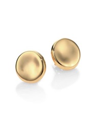 Roberto Coin 18K Yellow Gold Round Medium Button Earrings