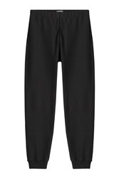 Alexander Mcqueen Cotton Sweatpants With Embellished Motif Black