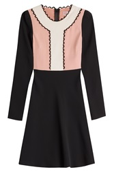 Red Valentino Color Block Dress Multicolor