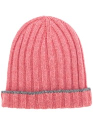 Brunello Cucinelli Ribbed Beanie Pink Purple