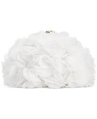 Blue By Betsey Johnson Fluff Clutch White