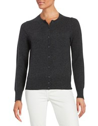 Lord And Taylor Cashmere Cardigan Charcoal Heather