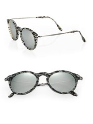 Kyme 48Mm Oval Sunglasses Silver