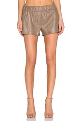 Blank Nyc Faux Leather Short Taupe