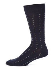 Saks Fifth Avenue Combed Cotton Blend Socks Grey Navy Brown