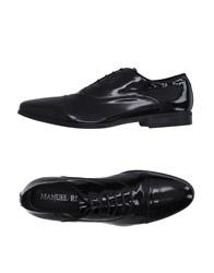 Manuel Ritz Footwear Lace Up Shoes Men Black