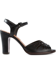 Chie Mihara Cut Out Leather Sandals Black