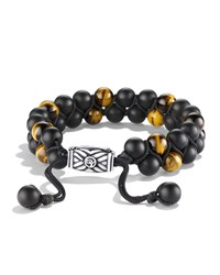 Spiritual Beads Bracelet With Black Onyx And Tiger's Eye David Yurman
