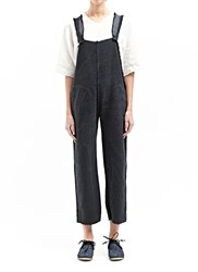 Marvielab Cotton And Linen Pocketed Overalls Grey