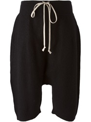 Rick Owens Drop Crotch Shorts Black