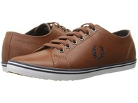 Fred Perry Kingston Leather Tan Carbon Blue 1 Men's Lace Up Casual Shoes Brown