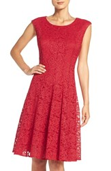 Chetta B Women's Sparkle Lace Fit And Flare Dress