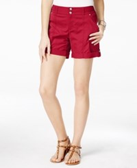 Inc International Concepts Cuffed Curvy Fit Twill Shorts Only At Macy's Fireberry