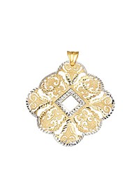 Lord And Taylor 14 Kt. Yellow White Gold Filigree Pendant