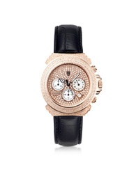 Lancaster Pillo Deco' Leather Band Women's Chronograph Watch Pink