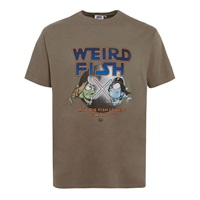 Weird Fish Fish Course Artist Regular Fit T Shirt Mushroom