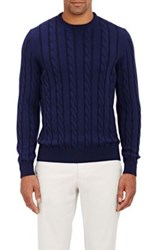 Drumohr Men's Cable Knit Sweater Navy