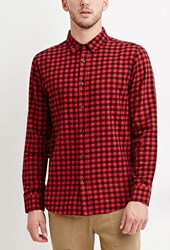 Forever 21 Plaid Flannel Shirt Red Black