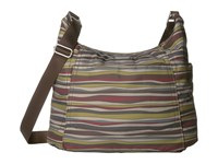 Baggallini Hobo Tote Java Stripe Cross Body Handbags Multi