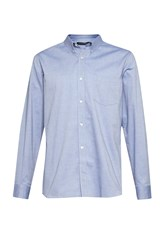 French Connection Men's Co Washed Oxford Shirt Blue