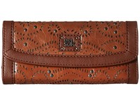 The Sak Iris Flap Wallet Tobacco Swirl Wallet Handbags Brown