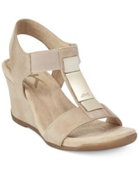 Anne Klein Loona Wedge Sandals A Macy's Exclusive Style Natural