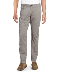 Strellson Cotton Straight Leg Chinos Medium Grey