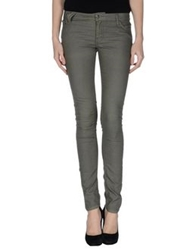 Maison Espin Casual Pants Military Green