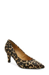 Andre Assous Women's 'Onassis' Pointy Toe Pump Leopard Calf Hair