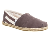 Toms University Espadrills Charcoal
