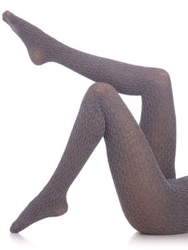 Fogal Eyrin Cable Knit Tights Grey