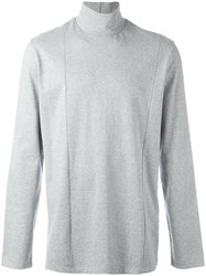 Plac Cutout Turtleneck Sweatshirt Grey