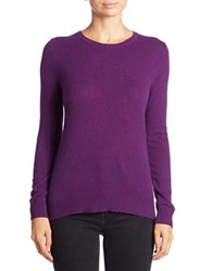 Lord And Taylor Plus Cashmere Crewneck Sweater Mulberry Heather