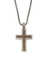 John Hardy Classic Chain Collection Sterling Silver Cross Necklace No Color