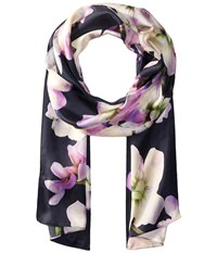 Echo Dazzling Orchid Oblong Navy Scarves