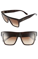Women's Mcm 55Mm Studded Navigator Sunglasses Havana
