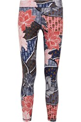 The Upside Enchanting Printed Stretch Jersey Leggings Navy