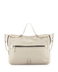 Ash Riley Large Leather Tote Bag Winter White
