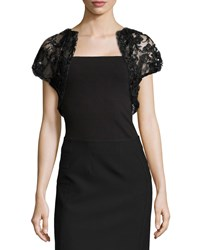 Monique Lhuillier Embellished Tulle Bolero Women's